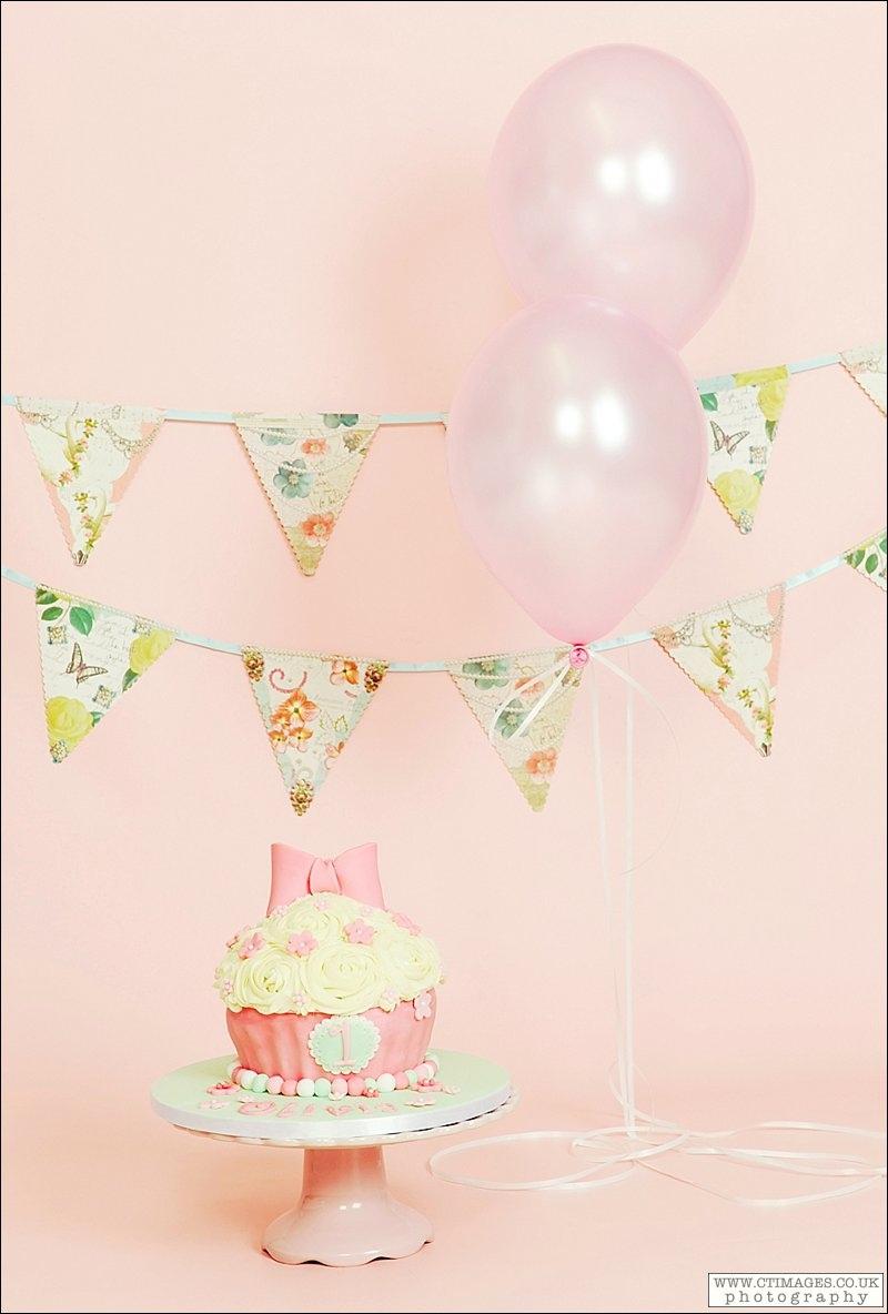 giant cupcake, girls birthday cake, pink, green, pink bow,