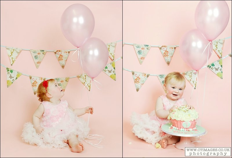 babes first birthday, pink balloons, vintage bunting,