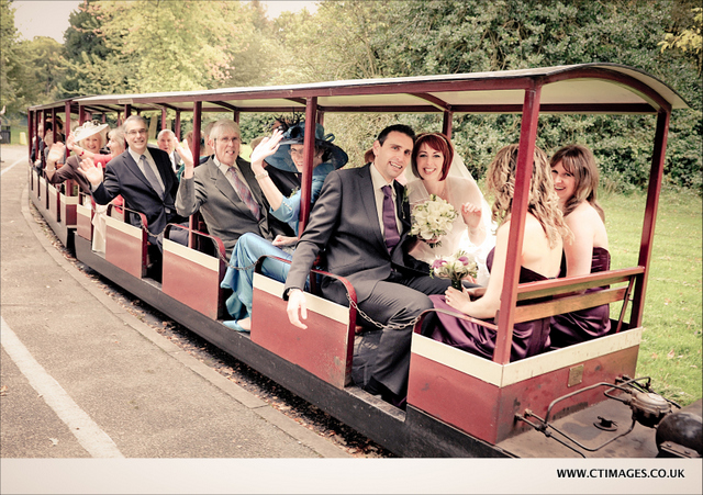 haigh-hall-wedding-photography-guests-on-train