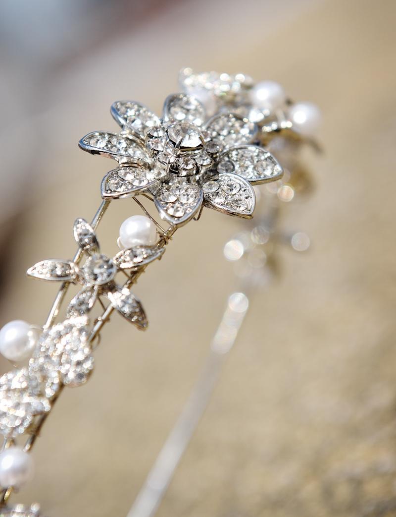 photograph of wedding tiara