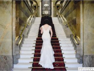 wedding photo at Lancaster Town Hall