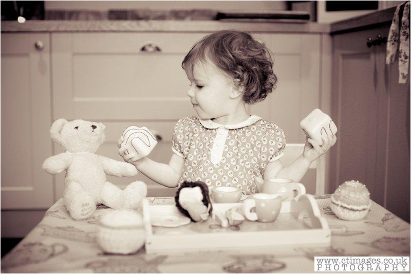 vintage childrens photo, tea party, teddy bears picnic, little girl,