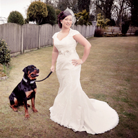 clitheroe wedding photographer bride with dog.jpg