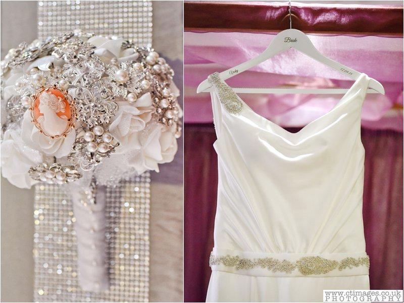 brooch, bouquet, wedding flowers, pearls, bridal