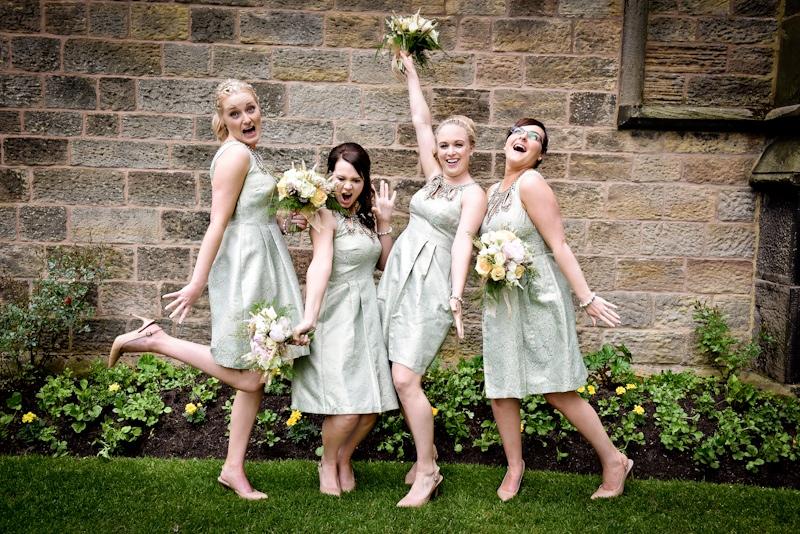 haigh hall wedding bridesmaids posing