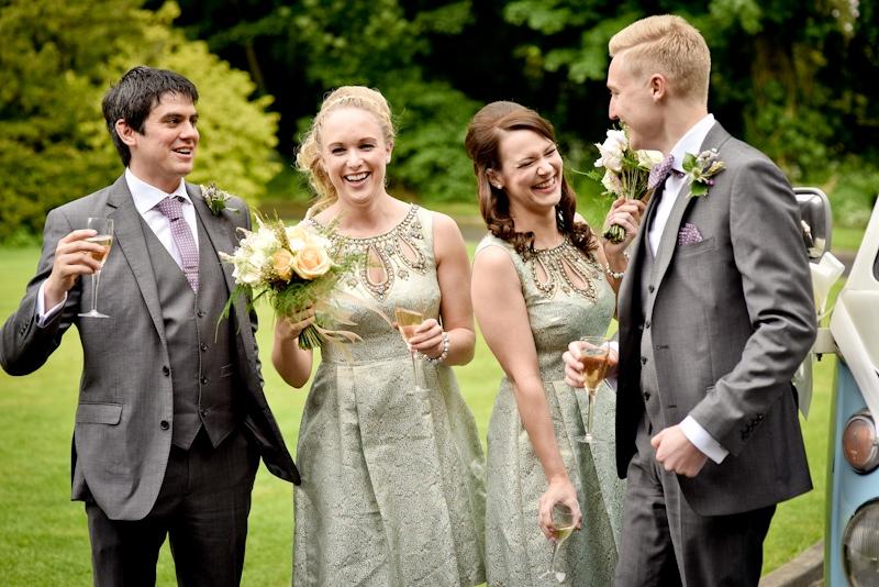 haigh hall wedding party photo